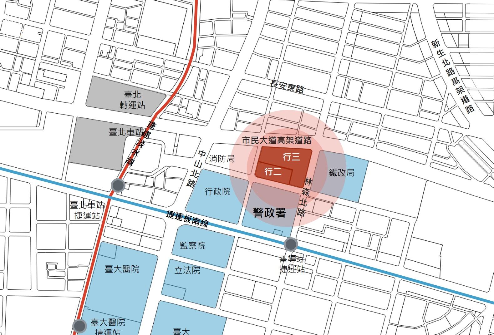 臺北市中正區行二行三都市更新案